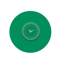 Line icon of round office clock vector image