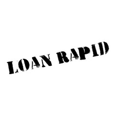 loan rapid rubber stamp vector image