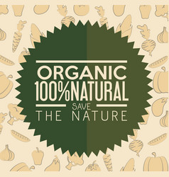 organic label design vector image