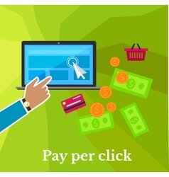 Pay Per Click Poster vector image vector image