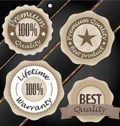 Quality labels vintage style collection vector image vector image