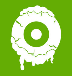 scary eyeball icon green vector image vector image