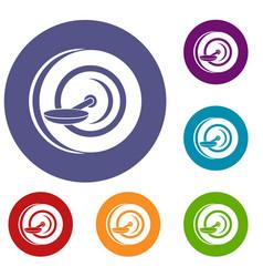 Self balancing wheel icons set vector