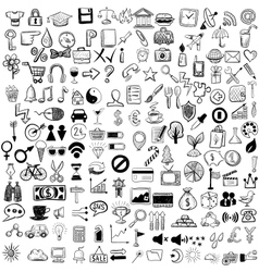 Set of sketch icons for site or mobile application vector