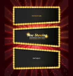 Showtime retro signs set vector
