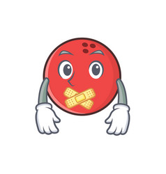Silent bowling ball character cartoon vector