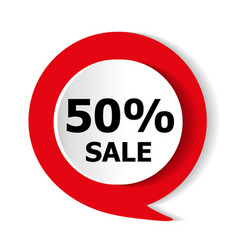 special offer red icon vector image vector image