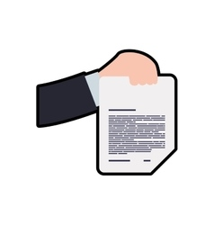 Document hand information data icon vector