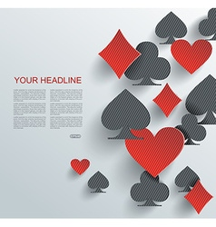 Abstract background with playing cards signs vector