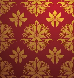 Gold and red pattern vector
