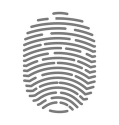 fingerprint of twisted lines sign isolated vector image