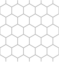 seamless abstract pattern with hexagons vector image