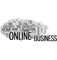 Basic online business techniques text word cloud vector