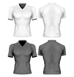 Short-sleeve polo-shirt vector