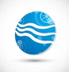 Wave water icon abstract icon 3d symbol vector