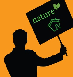 Nature eco house color vector