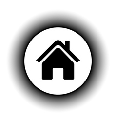 Home symbol button vector