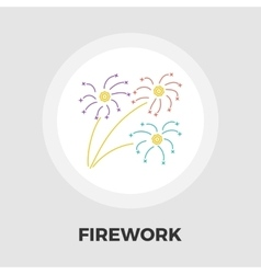 Firework flat icon vector