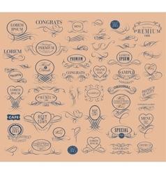 Set of elegant calligraphic design vector