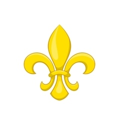 Fleur de lis icon cartoon style vector