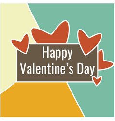 abstract valentine day card with heart and sign vector image