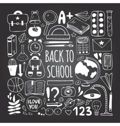 Back to school big doodles set vector image vector image