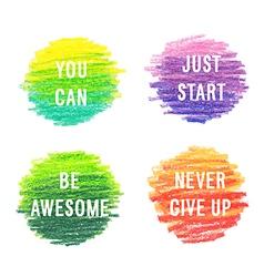 Beautiful motivation poster set vector image
