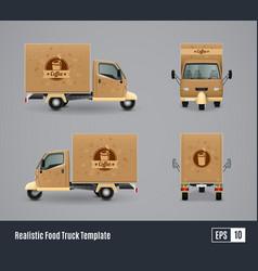 coffee truck realistic design vector image