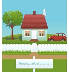 cute house vector image