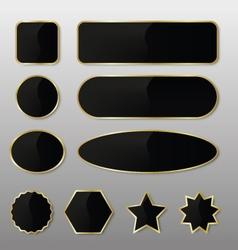 Elegant Black-Gold Web Buttons vector image vector image