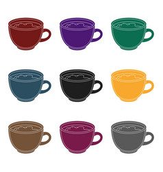 espresso coffeedifferent types of coffee single vector image