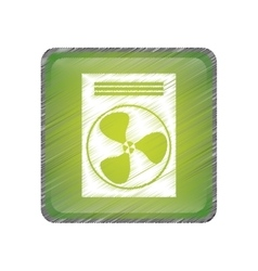 Fan machine icon vector