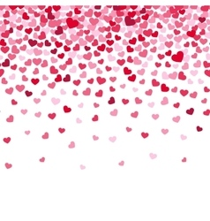 Flying heart confetti valentines day vector