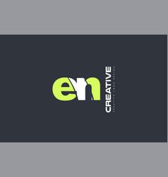 green letter en e n combination logo icon company vector image