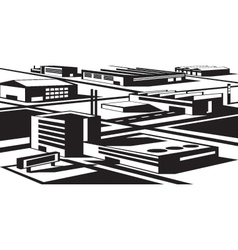 Industrial and economic zone vector image vector image