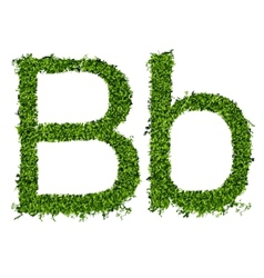 Isolated grass alphabet on white background vector image vector image