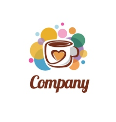 Love coffee or tea logo vector
