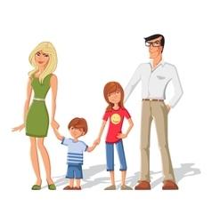 Parents with children characters set vector