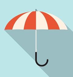 Retro Flat Design Umbrella vector image