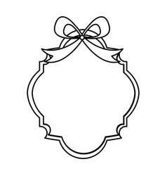 ribbon decorative frame icon vector image