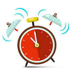 Ringing alarm clock icon vector