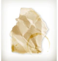 Scrap of paper vector image vector image