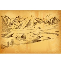 Sketch of the mountains vector