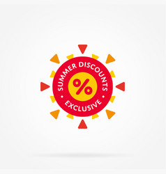 special offer sale tag like as sun vector image vector image