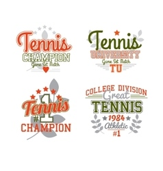 Tennis Badge Collection vector image vector image