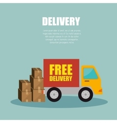 truck delivery transporting package design vector image