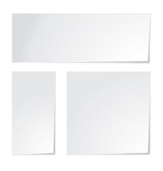 White paper set vector