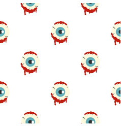 zombie eyeball pattern seamless vector image vector image