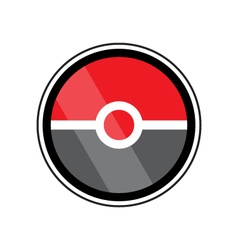 Pokeball video game icons and design elements vector