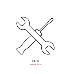 Wrench and screwdriver icon vector